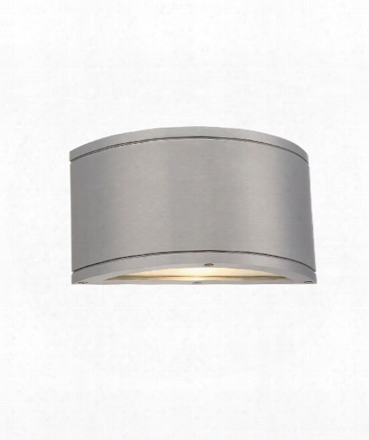 """Tube 4"""" Led 1 Light Outdoor Outdoor Wall Light In Brushed Aluminum"""