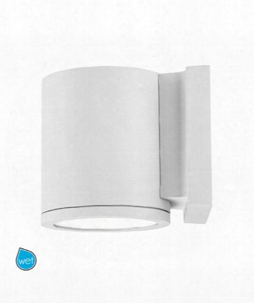 "Tube 6"" Led 1 Light Outdoor Outdoor Wall Light In White"