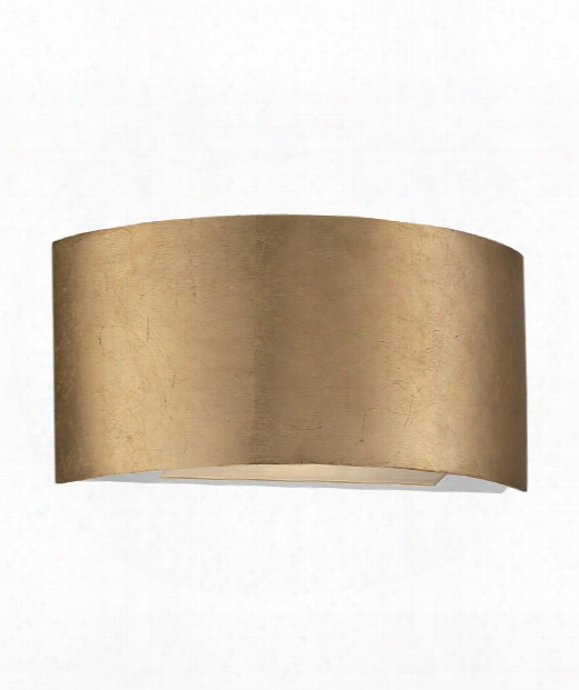 "Vermeil 11"" Led 1 Light Wall Sconce In Gold Leaf"