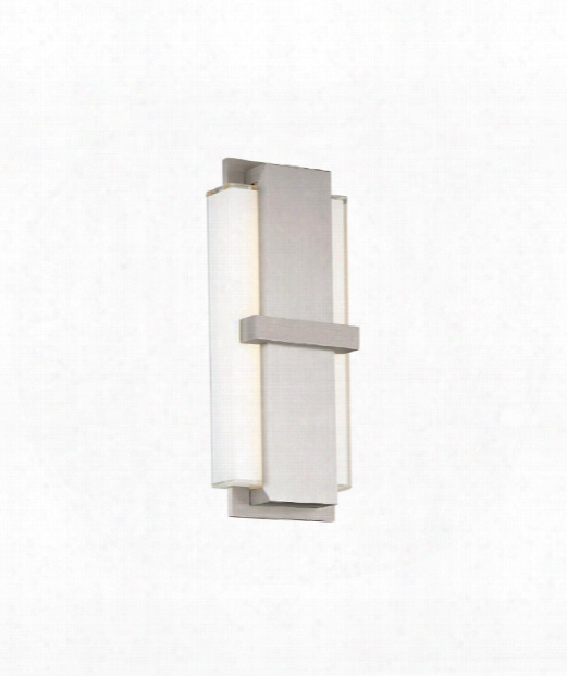 "Virtue 15"" Led 1 Light Wall Sconce In Brushed Aluminum"