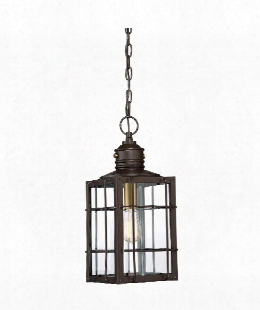"""West Oak 9"""" 1 Light Outdoor Outdoor Hanging Lantern In Western Bronze"""