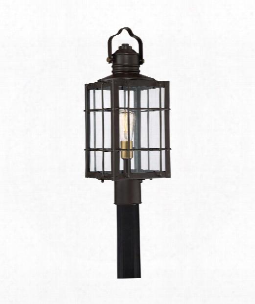 """West Oak 9"""" 1 Light Outdoor Outdoor Post Lamp In Western Bronze"""