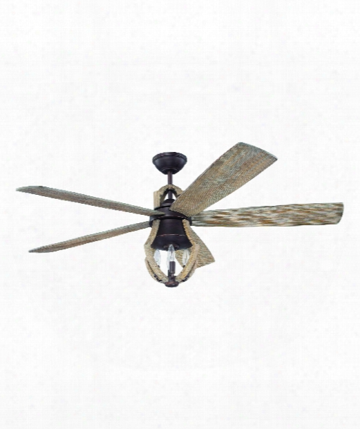 Winton 3 Light Ceiling Fan In Aged Bronze Brushed-weathered Pine