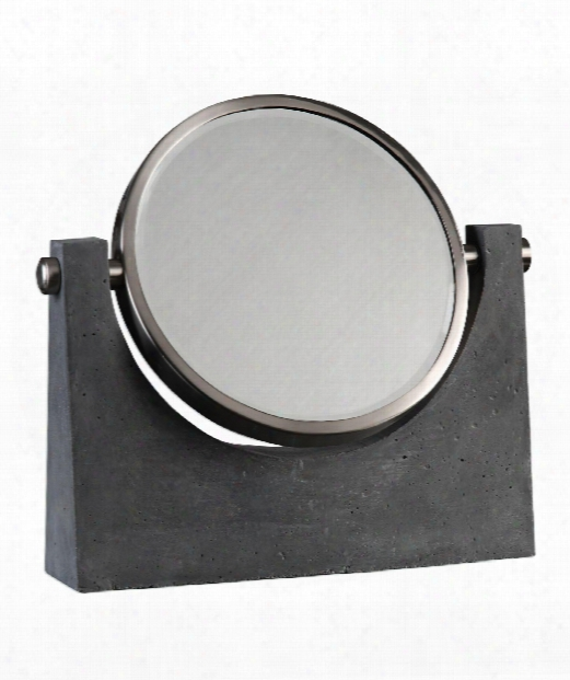 "Anatolio 16"" Make Up Mirror In Charcoal Stained"