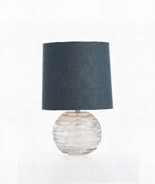 """Anoma 14"""" 1 Light Table Lamp In Clear"""
