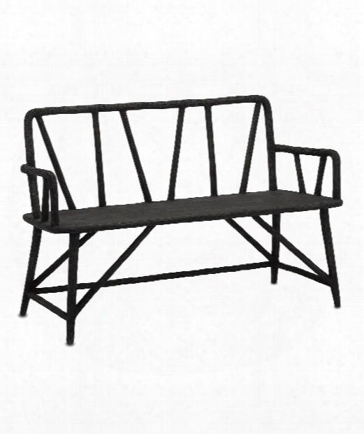 """Arboria 52"""" Bench In Distressed Black"""