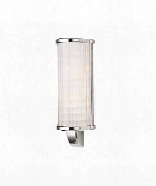 "Arcadia 6"" 2 Light Wall Sconce In Polished Nickel"