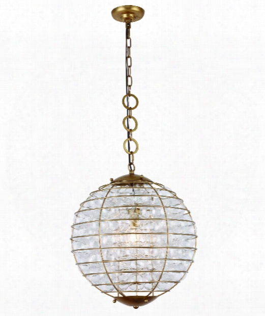 "Bellagio 18"" 1 Light Large Pendant In Anitque Gold Leaf"
