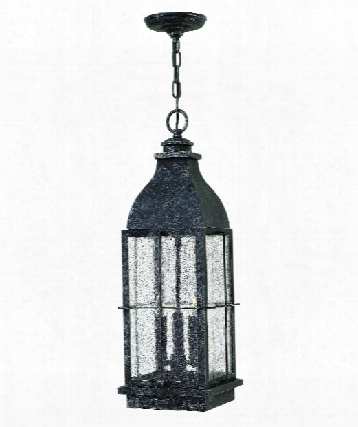 "Bingham 8"" 3 Light Outdoor Outdoor Hanging Lantern In Greystone"