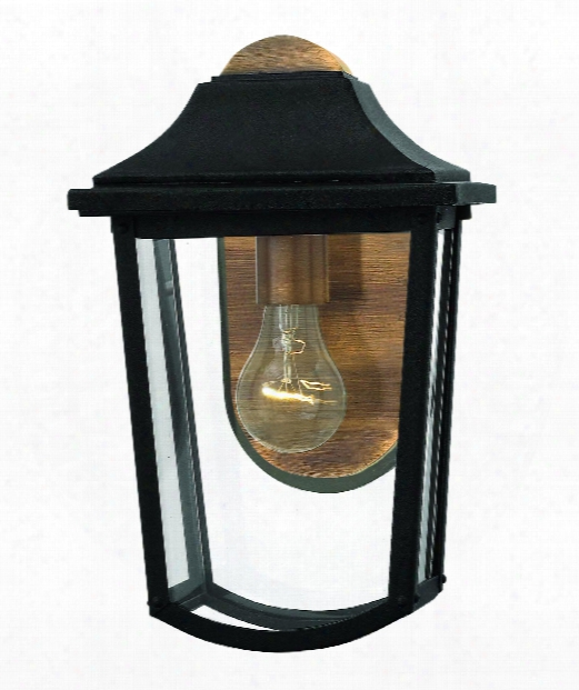 """Burton 8"""" 1 Light Outdoor Outdoor Wall Light In Black"""