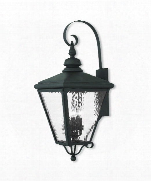 "Cambridge 14"" 4 Light Outdoor Outdoor Wall Light In Black"