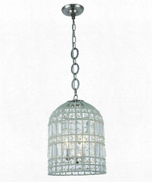 "Capistrano 12"" 3 Light Mini Pendant In Polished Nickel"