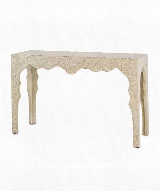 "Casablanca 50"" Console Table In Faux Bois"
