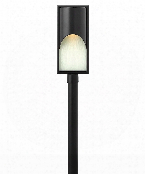 "Cascade 10"" Led 1 Light Outdoor Outdoor Post Lamp In Satin Black"