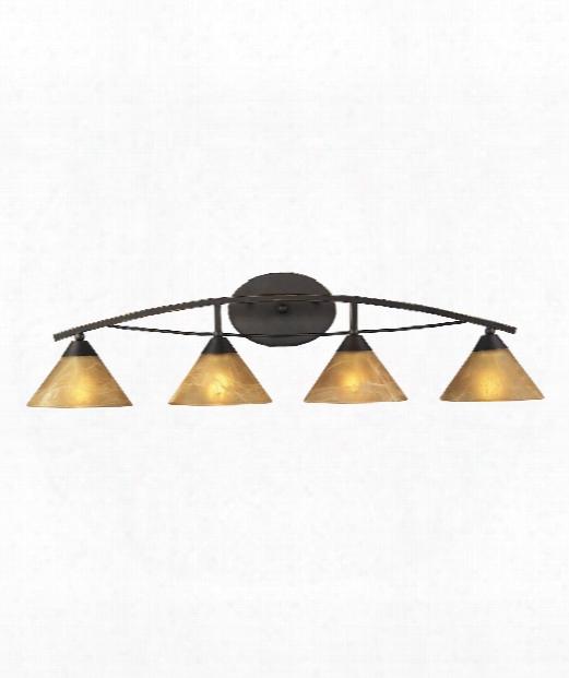 "Elysburg 36"" 4 Light Bath Vanity Light In Aged Bronze"