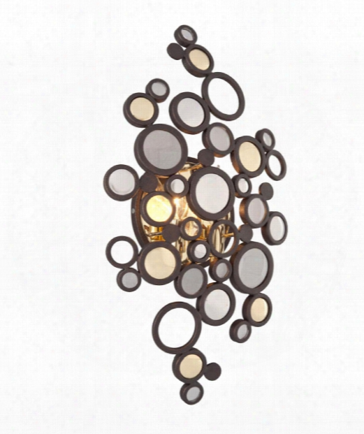"""Fathom 12"""" Led 2 Light Wall Sconce In Bronze"""