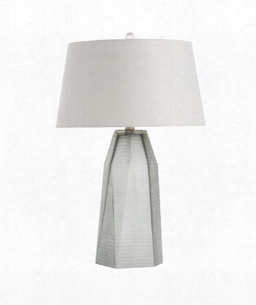 """Foster 17"""" 1 Light Table Lamp In Smoke"""