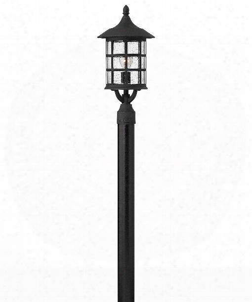 """Freeport 10"""" 1 Light Outdoor Outdoor Post Lamp In Black"""
