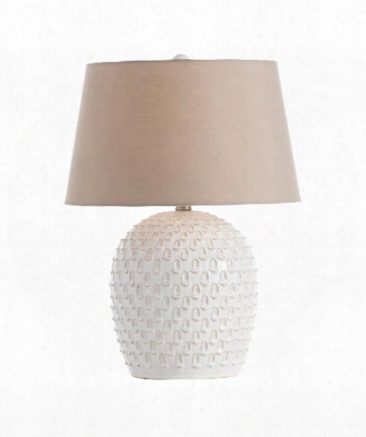 "Garland 15"" 1 Light Table Lamp In Ivory Wash"