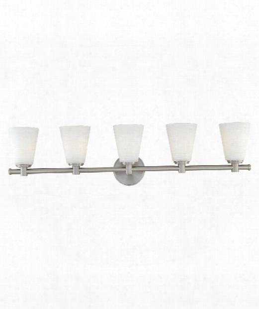 """Garland 36"""" 5 Light Bath Vanity Light In Satin Nickel"""
