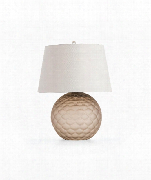 "Geraldine 19"" 1 Light Table Lamp In Frosted Tobacco"