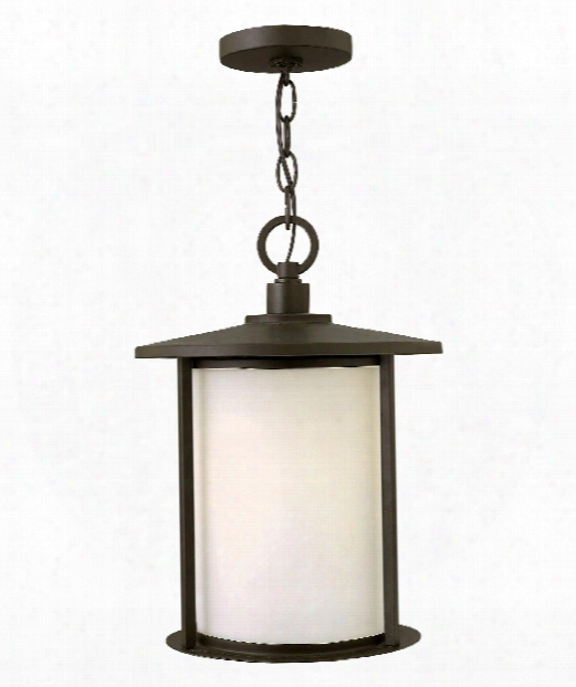 "Hudson 11"" 1 Light Outdoor Hanging Lantern In Oil Rubbed Bronze"