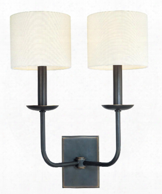 "Kings Point 15"" 2 Light Wall Sconce In Old Bronze"