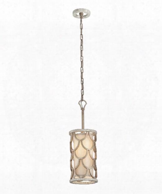 "Koi 8"" 1 Light Mini Pendant In Bronze Leaf"