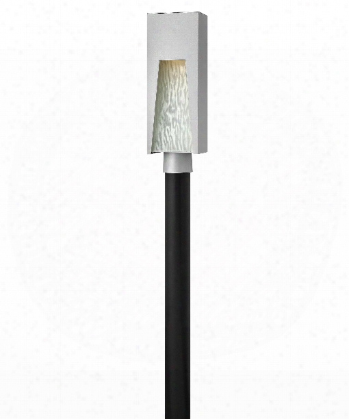 "Kube 6"" Led 1 Light Outdoor Outdoor Post Lamp In Titanium"