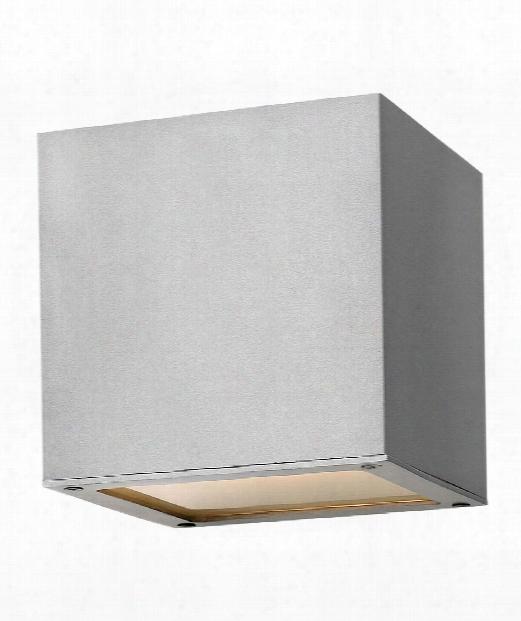 "Kube 6"" Led 1 Light Outdoor Outdoor Wall Light In Titanium"