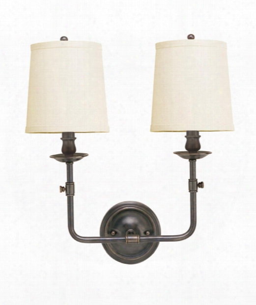 """Logan 16"""" 2 Light Wall Sconce In Old Bronze"""