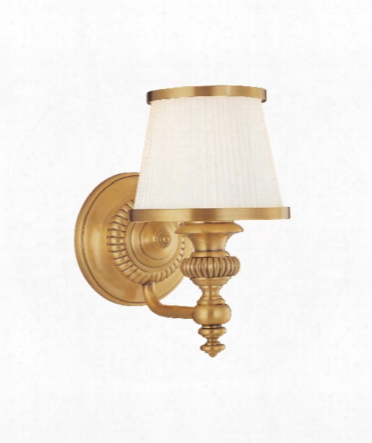 "Milton 6"" 1 Light Wall Sconce In Flemish Brass"