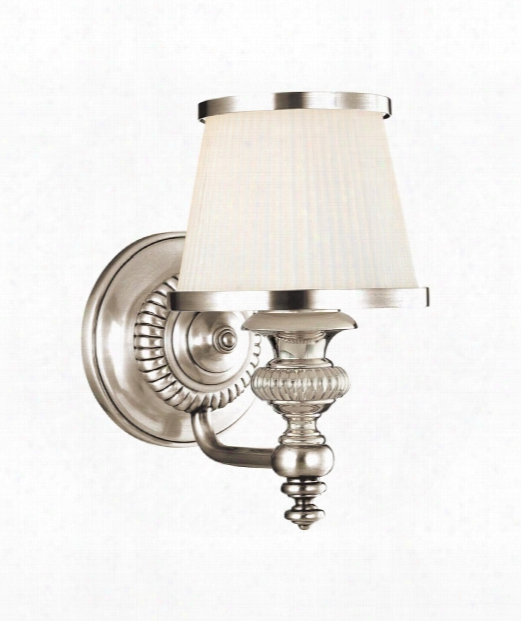 """Milton 6"""" 1 Light Wall Sconce In Polished Nickel"""