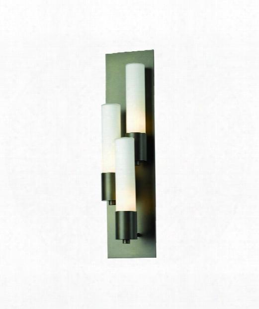 """Pillar 5"""" 3 Light Wall Sconce In Mahogany"""