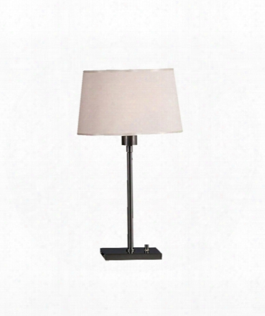 "Real Simple 7"" 1 Light Table Lamp In Gunmetal Powder"