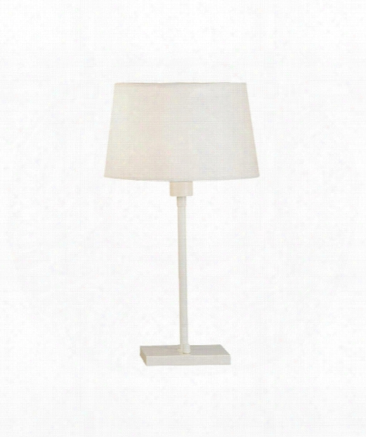 "Real Simple 7"" 1 Light Table Lamp In Winter White Powder"