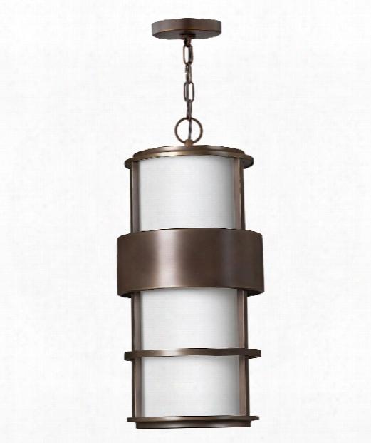 "Saturn 10"" 1 Light Outdoor Hanging Lantern In Metro Bronze"