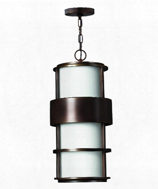 "Saturn 10"" Led 1 Light Outdoor Hanging Lantern In Metro Bronze"