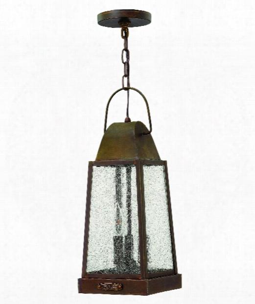 "Sedgwick 7"" 3 Light Outdoor Outdoor Hanging Lantern In Sienna"