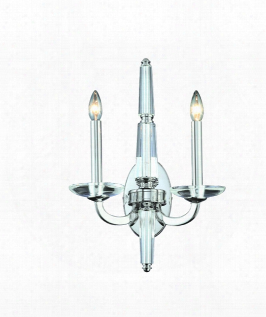"Senze 15"" 2 Light Wall Sconce In Chrome"