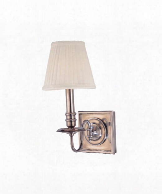 "Sheldrake 6"" 1 Light Wall Sconce In Historic Nickel"