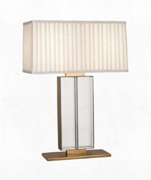 "Sloan 7"" 2 Light Table Lamp In Aged Brass"