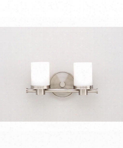 "Southport 12"" 2 Light Bath Vanity Light In Satin Nickel"