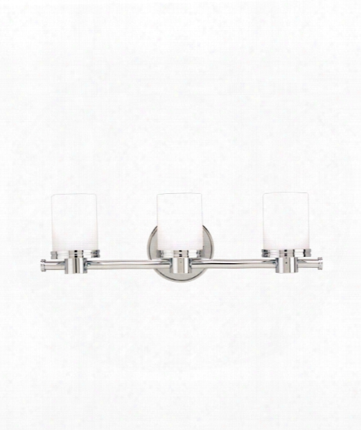 "Southport 19"" 3 Light Bath Vanity Light In Polished Chrome"