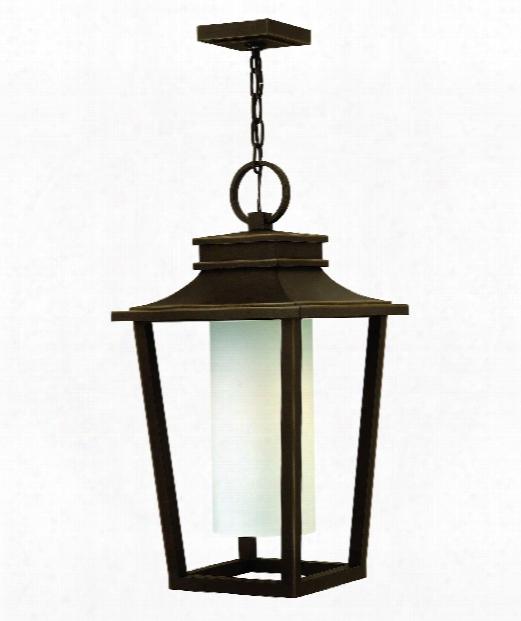 "Sullivan 12"" 1 Light Outdoor Hanging Lantern In Oil Rubbed Bronze"