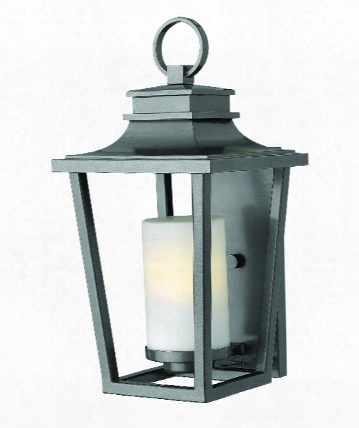 "Sullivan 9"" 1 Light Outdoor Outdoor Wall Light In Hematite"