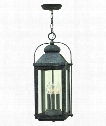 "Anchorage 11"" 3 Light Outdoor Outdoor Hanging Lantern in Aged Zinc"