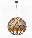 "Argyle 24"" 5 Light Large Pendant in New Bronze with Desert Pearl"