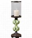 """Civita 6"""" Candle Holder in Green Ceramic"""
