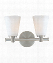 "Garland 12"" 2 Light Bath Vanity Light in Satin Nickel"